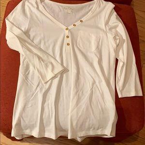 Lilly Pulitzer White 3-Quarter Sleeve